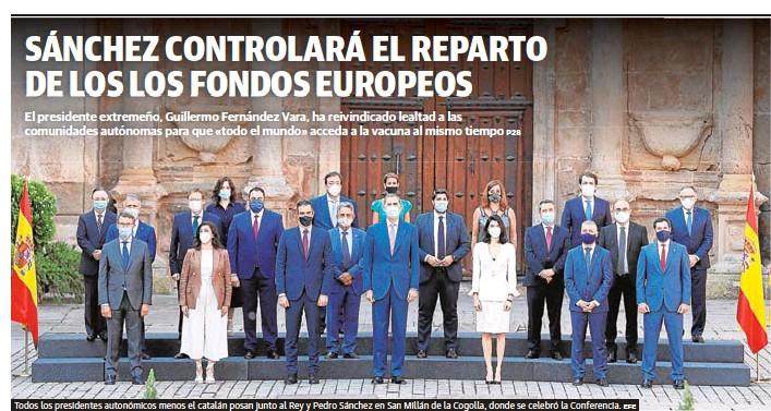 SÁNCHEZ CONTROLARÁ EL REPARTO DE LOS LOS FONDOS EUROPEOS