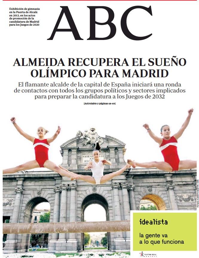 ALMEIDA RECUPERA EL SUEÑO OLÍMPICO PARA MADRID