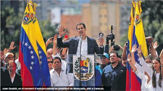 TRUMP UNGEIX GUAIDÓ I MADURO TRENCA AMB EUA