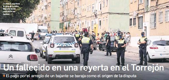 UN FALLECIDO EN UNA REYERTA EN EL TORREJÓN