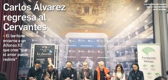 CARLOS ÁLVAREZ REGRESA AL CERVANTES