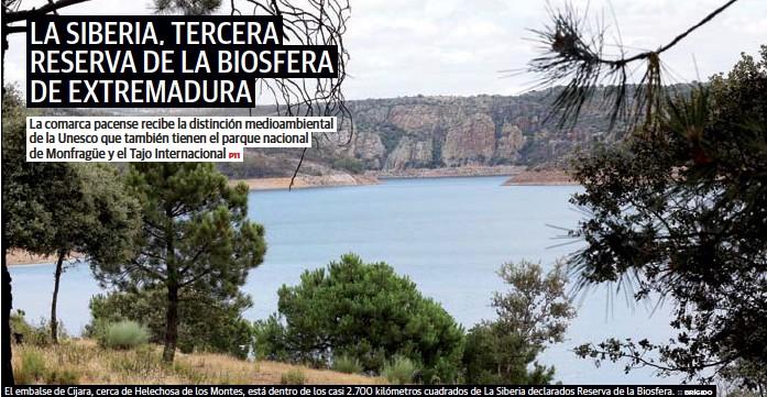 LA SIBERIA, TERCERA RESERVA DE LA BIOSFERA DE EXTREMADURA