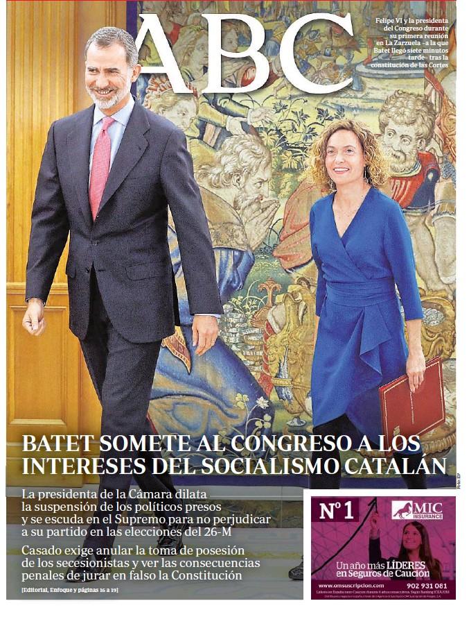 BATET SOMETE AL CONGRESO A LOS INTERESES DEL SOCIALISMO CATALÁN