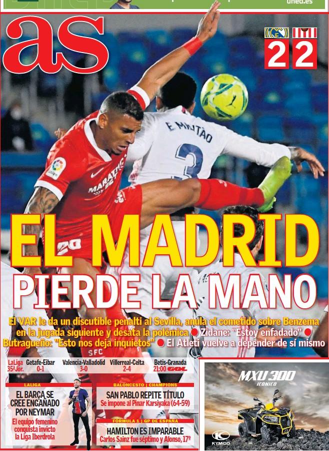 EL MADRID PIERDE LA MANO