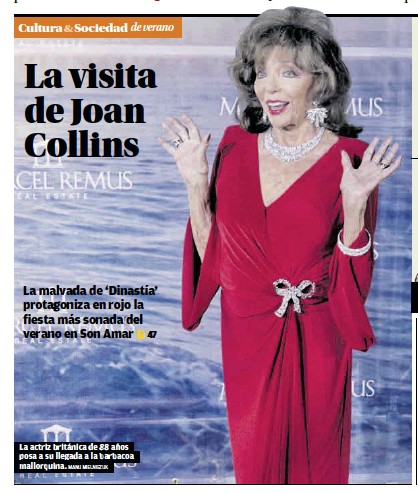LA VISITA DE JOAN COLLINS