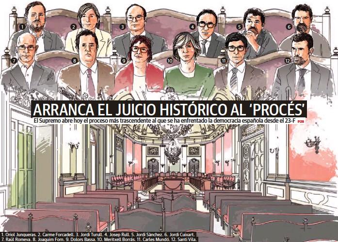 ARRANCA EL JUICIO HISTÓRICO AL 'PROCÉS'