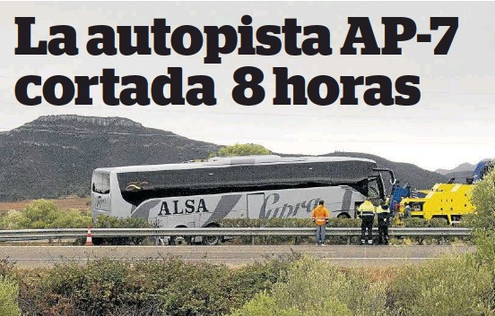 LA AUTOPISTA AP-7 CORTADA 8 HORAS