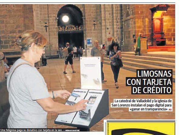 LIMOSNAS CON TARJETA DE CRÉDITO