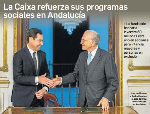 LA CAIXA REFUERZA SUS PROGRAMAS SOCIALES EN ANDALUCÍA