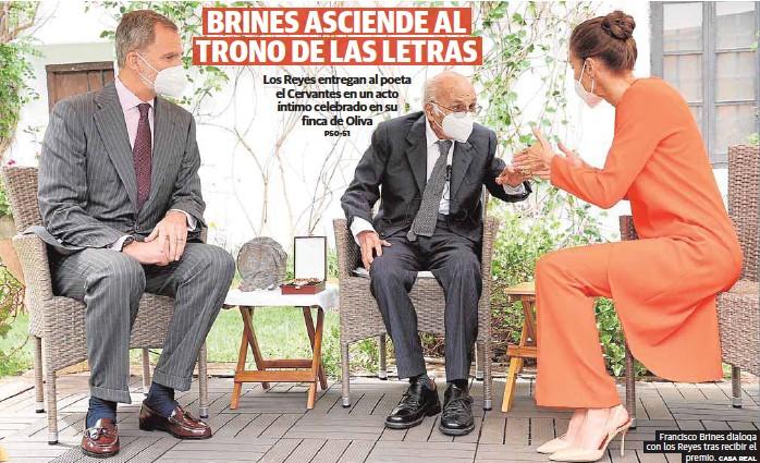 BRINES ASCIENDE AL TRONO DE LAS LETRAS