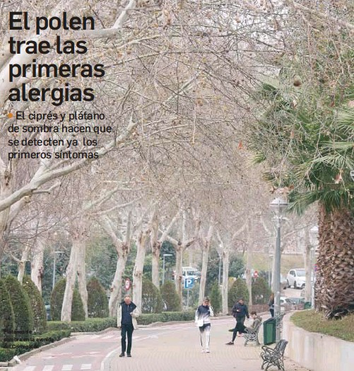 EL POLEN TRAE LAS PRIMERAS ALERGIAS