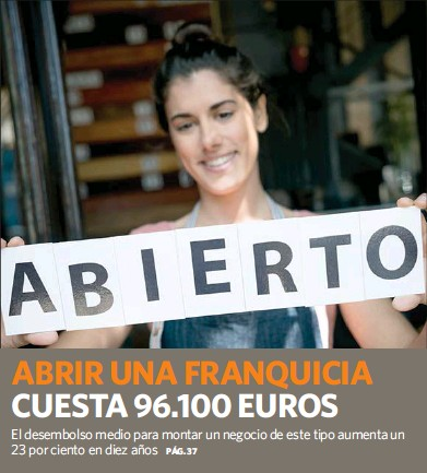 ABRIR UNA FRANQUICIA CUESTA 96.100 EUROS