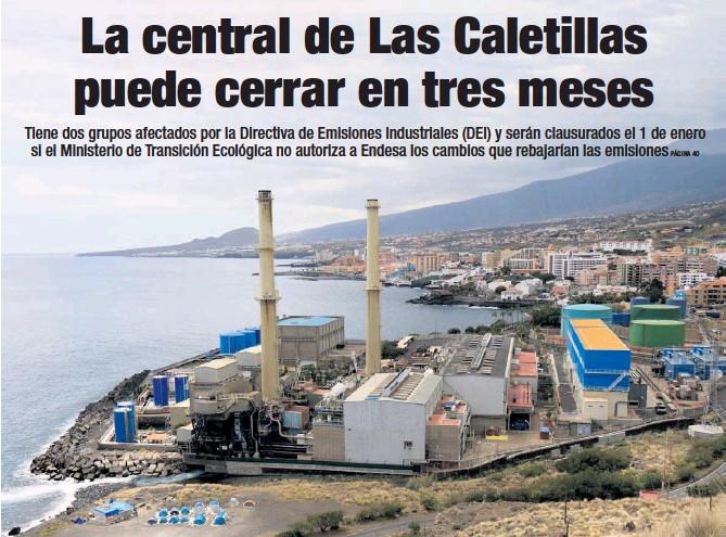 LA CENTRAL DE LAS CALETILLAS PUEDE CERRAR EN TRES MESES