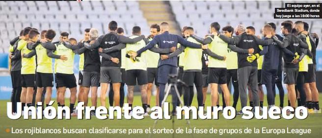 UNIÓN FRENTE AL MURO SUECO