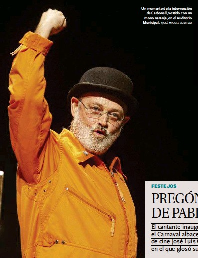 PREGÓN 'MANCHEGO' DE PABLO CARBONELL