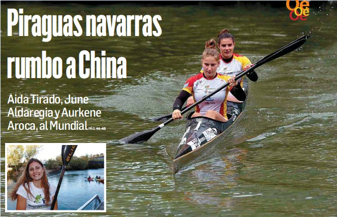 PIRAGUAS NAVARRAS RUMBO A CHINA