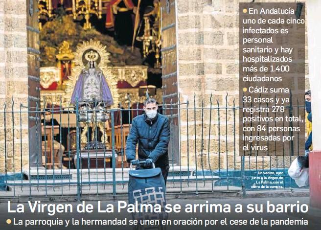 LA VIRGEN DE LA PALMA SE ARRIMA A SU BARRIO