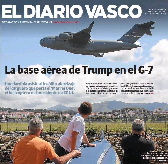 LA BASE AÉREA DE TRUMP EN EL G-7