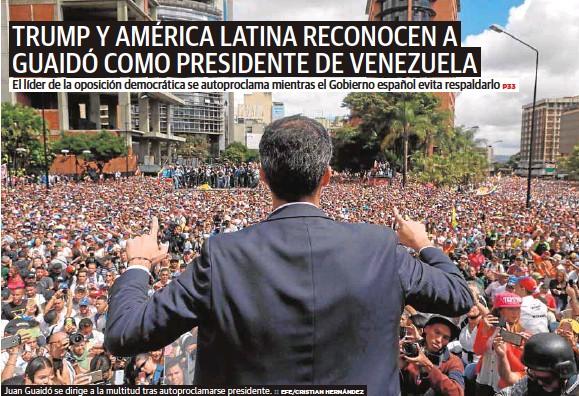 TRUMP Y AMÉRICA LATINA RECONOCEN A GUAIDÓ COMO PRESIDENTE DE VENEZUELA