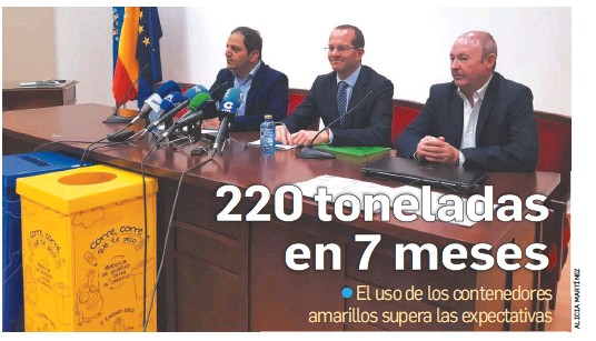 220 TONELADAS EN 7 MESES