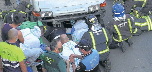 EVACUADO TRAS UN GRAVE ACCIDENTE