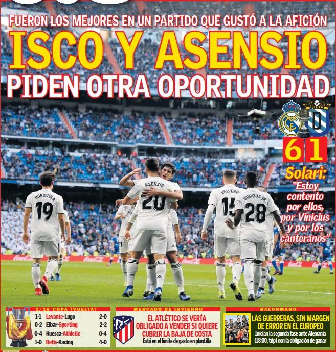 ISCO Y ASENSIO PIDEN OTRA OPORTUNIDAD