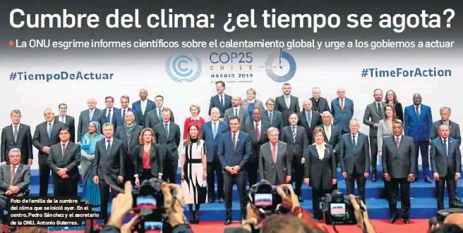 CUMBRE DEL CLIMA: ¿EL TIEMPO SE AGOTA?