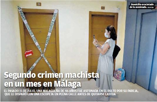SEGUNDO CRIMEN MACHISTA EN UN MES EN MÁLAGA