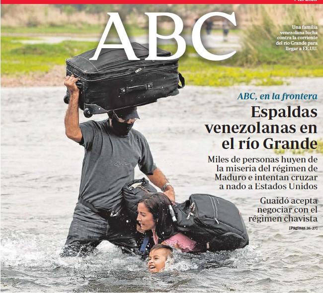 ESPALDAS VENEZOLANAS EN EL RÍO GRANDE