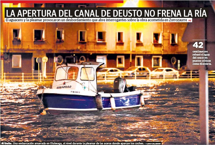 LA APERTURA DEL CANAL DE DEUSTO NO FRENA LA RÍA