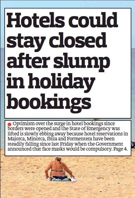 HOTELS COULD STAY CLOSED AFTER SLUMP IN HOLIDAY BOOKINGS