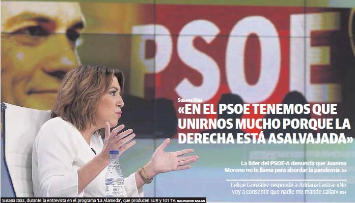 «EN EL PSOE TENEMOS QUE UNIRNOS MUCHO PORQUE LA DERECHA ESTÁ ASALVAJADA»