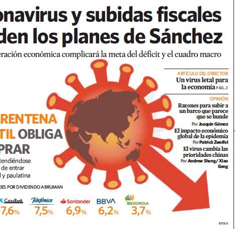 CORONAVIRUS Y SUBIDAS FISCALES HUNDEN LOS PLANES DE SÁNCHEZ