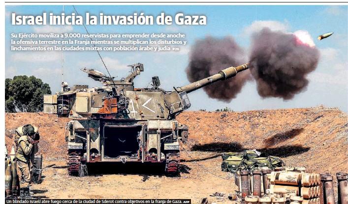 ISRAEL INICIA LA INVASIÓN DE GAZA