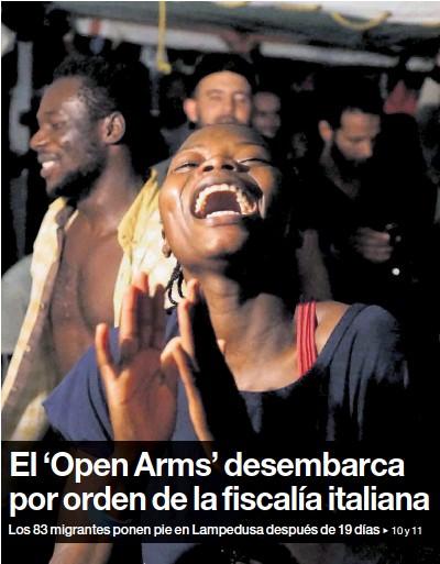 EL 'OPEN ARMS' DESEMBARCA POR ORDEN DE LA FISCALÍA ITALIANA