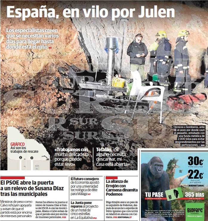 ESPAÑA, EN VILO POR JULEN