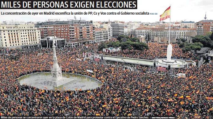 MILES DE PERSONAS EXIGEN ELECCIONES