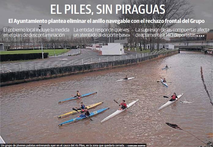 EL PILES, SIN PIRAGUAS