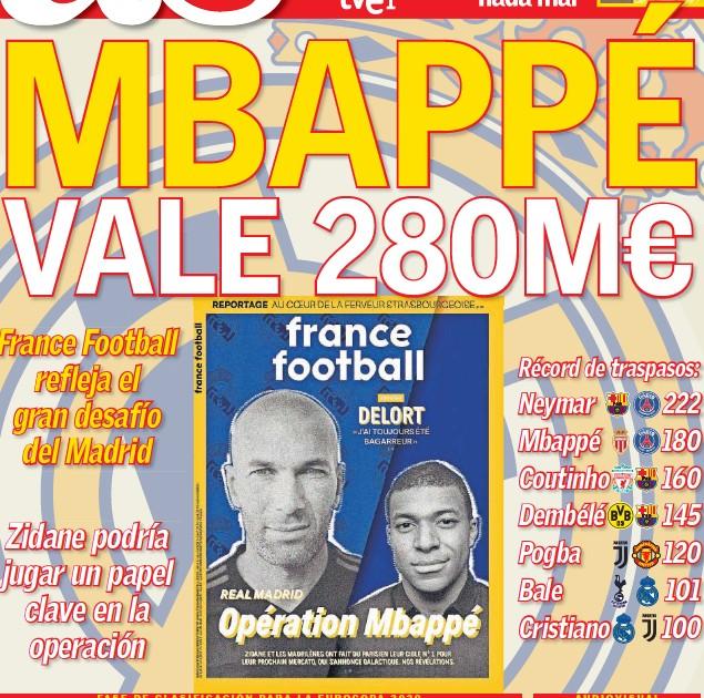 MBAPPÉ VALE 280M€