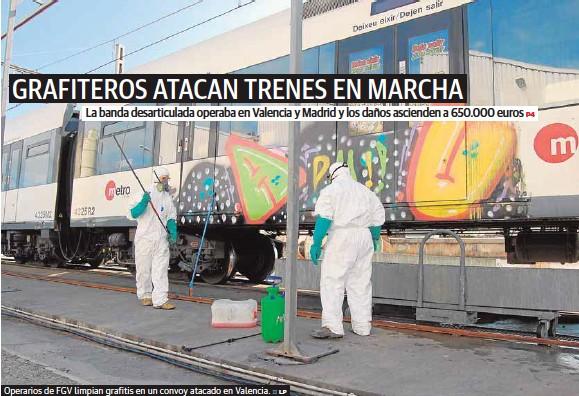 GRAFITEROS ATACAN TRENES EN MARCHA