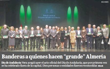 """BANDERAS A QUIENES HACEN """"GRANDE"""" ALMERÍA"""