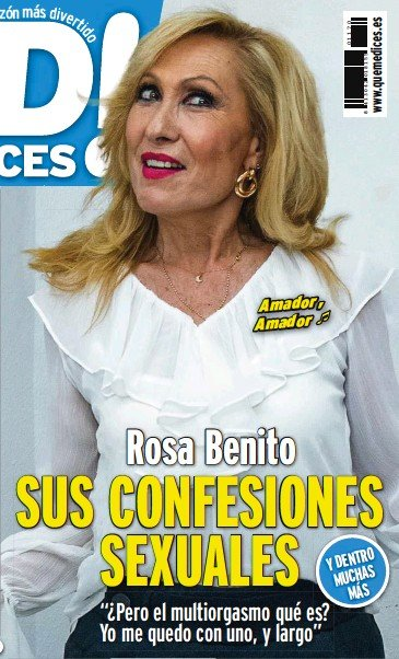 ROSA BENITO SUS CONFESIONES SEXUALES