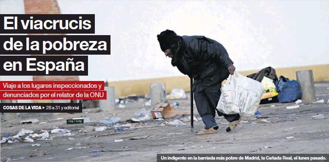 EL VIACRUCIS DE LA POBREZA EN ESPAÑA