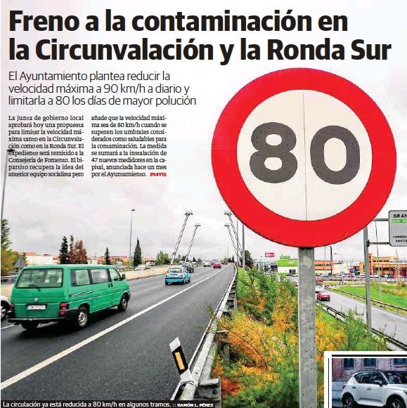 FRENO A LA CONTAMINACIÓN EN LA CIRCUNVALACIÓN Y LA RONDA SUR