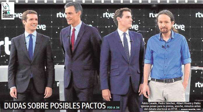 DUDAS SOBRE POSIBLES PACTOS