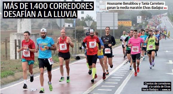 MÁS DE 1.400 CORREDORES DESAFÍAN A LA LLUVIA