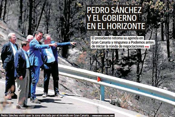 PEDRO SÁNCHEZ Y EL GOBIERNO EN EL HORIZONTE