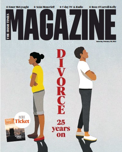 Front page of The Irish Times Magazine newspaper from Ireland