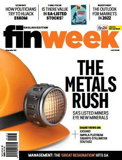 Front page of FIN Week English edition newspaper from South Africa