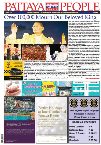Front page of Pattaya People Weekly newspaper from Thailand